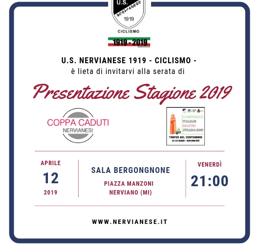 Presentazione Campionati Italiani Strada Master 2019 FCI