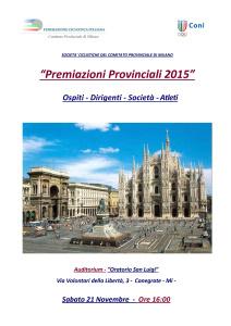 Premiazioni 2015 CP MI