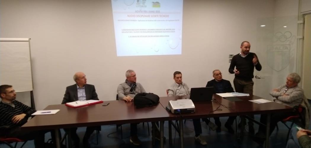 Riunione società Settore amatoriale FCI Lombardia, 7 Novembre 2019